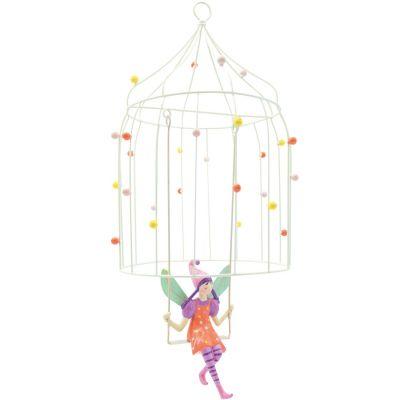 Mobile décoratif Les volières à elfes Cotillon  par L'oiseau bateau