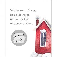 Carte à gratter Annonce de grossesse Bonne année grand-père (8 x 10 cm)