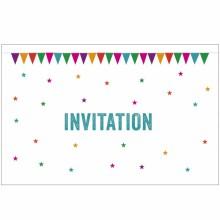 Lot de 10 cartes d'invitation Fanions  par A cause de toi !