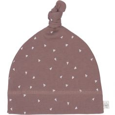 Bonnet en coton bio Cozy Colors triangle cannelle (0-2 mois)