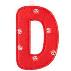 Lettre en tissu à suspendre D (9,5 cm)