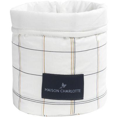 Panier de toilette Saint Honoré carreaux (19 x 15 cm)  par Maison Charlotte