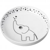 Assiette plate Yummy Dots Plus Elphee gris - Done by Deer