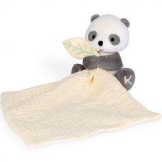 Doudou plat en coton bio Panda WWF