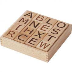 Cubes en bois lettres Neo (16 cubes)
