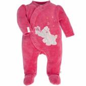 Pyjama chaud Anna et Pili rose framboise (1 mois : 56 cm) - Noukie's