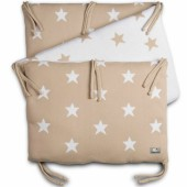 Tour de lit Star beige et blanc (pour lit 60 x 120 cm) - Baby's Only