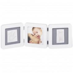 Cadre photo empreinte Baby Art Double Print Frame blanc - Baby Art