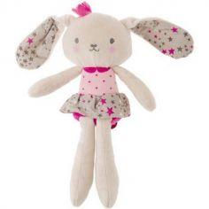 Peluche lapin rose Stories (29 cm)