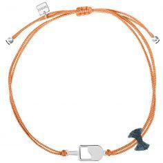 Bracelet cordon corail Mini Coquine glace (argent 925°)
