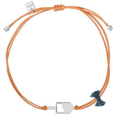 Bracelet cordon corail Mini Coquine glace (argent 925°)  par Coquine