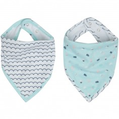 Lot de 2 bavoirs bandana Ice Cream