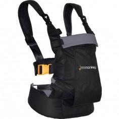 Porte bébé ventral et dorsal Dynamic noir et gris