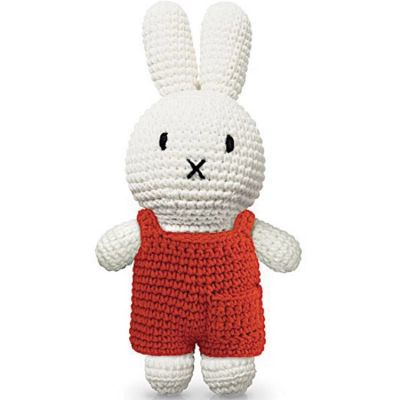 Peluche Miffy en salopette rouge (25 cm)  par Just Dutch