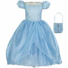 Robe de princesse bleue scintillante (6-8 ans)