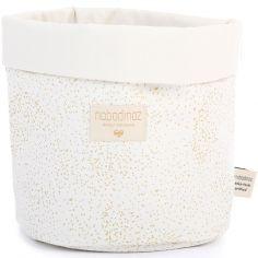 Petit panier de toilette Panda blanc Gold bubble (15 x 19 cm)