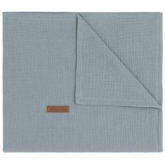 Couverture bébé en coton Breeze bleue (70 x 95 cm)