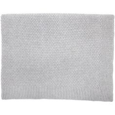 Couverture en laine Big Bou gris chiné clair (75 x 100 cm)