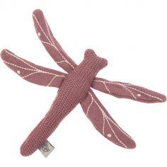 Hochet tricoté libellule bois de rose Garden Explorer (20 cm)