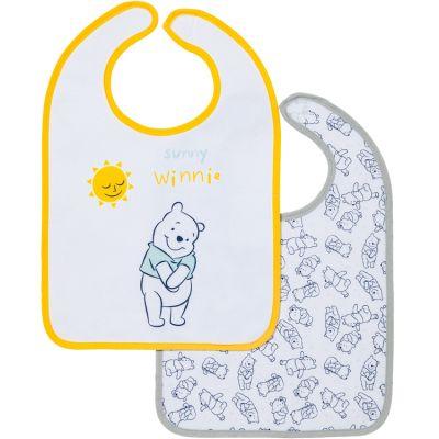 Lot de 2 bavoirs 1er âge Winnie l'ourson  par Babycalin