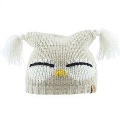 Bonnet en tricot hibou (6-12 mois)
