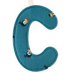 Lettre en tissu à suspendre C (9,5 cm)