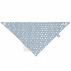 Bavoir bandana avec élément de dentition Lela bleu clair