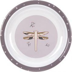 Assiette plate en mélamine Adventure libellule