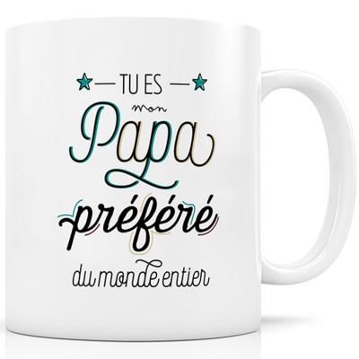 Mug céramique Papa Préféré  par Créa Bisontine
