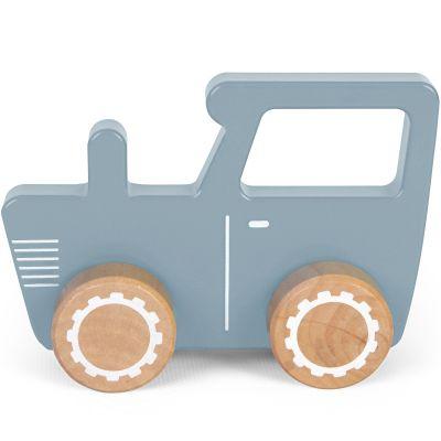 Petit tracteur en bois blue  par Little Dutch