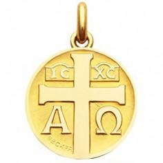 Médaille à la croix (Or jaune 750 millièmes)