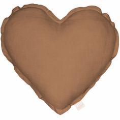 Coussin coeur chocolat Pure nature (40 cm)