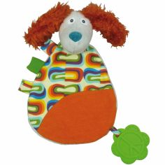 Doudou plat Antoine le chien La Happy Farm (30 cm)