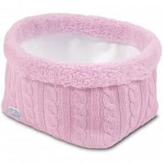 Panier de toilette Cable rose clair (12 x 15 cm)