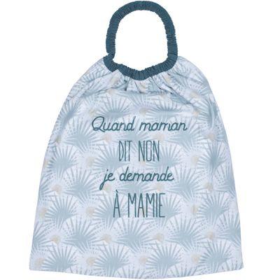 Bavoir passe-tête Quand maman dit non je demande à mamie Palmier  par BB & Co