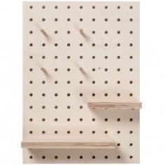 Panneau perforé pegboard rectangle (42 x 30 cm)