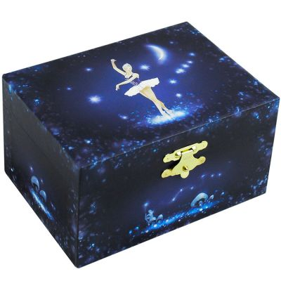 Boîte à bijoux musicale phosphorescente Ballerine bleue  par Trousselier