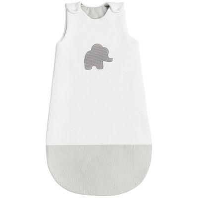 Gigoteuse Tembo l'éléphant jacquard blanc (90 cm)  par Nattou