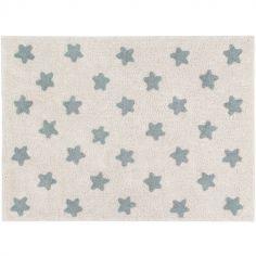 Tapis rectangulaire Estrellas étoile écru et bleu (120 x 160 cm)