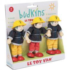 Lot de 3 figurines pompiers (9 cm)