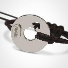 Bracelet ''Disco'' Garçon (or blanc 750°)
