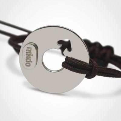 Bracelet 'Disco' Garçon (or blanc 750°)  par Mikado