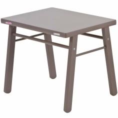 Table d'enfant en bois massif laqué taupe