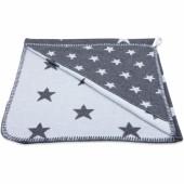 Cape de bain Star gris anthracite et gris (80 x 80 cm) - Baby's Only