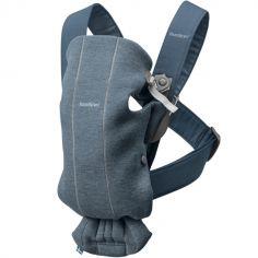 Porte bébé Mini Jersey 3D bleu chiné