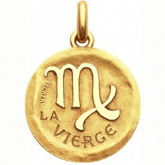 Médaille symbole Vierge (or jaune 750°)