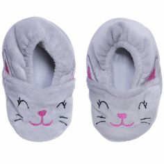 Chaussons en velours Chat (0-6 mois)