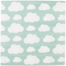 Serviettes en papier nuages aqua (20 pièces)  par My Little Day