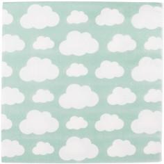 Serviettes en papier nuages aqua (20 pièces)