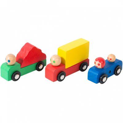 Voiture et camions Dans la ville (3 pièces)  par Moulin Roty